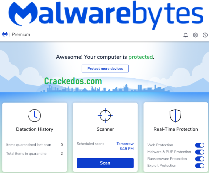 Malwarebytes Premium Crack 4.3.0.210 With License Key 2021