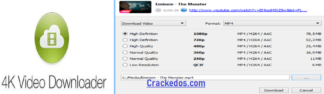 4K Video Downloader 4.14.2.4070 Crack With License Key Download